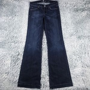 7 For All Mankind Dojo Flare Leg Jeans Sz 26 X 33